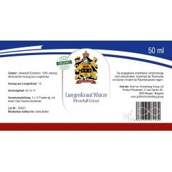 Lungenkraut Würze Label
