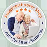 Ausgezeichneter Shop - Auch für Senioren geeignet