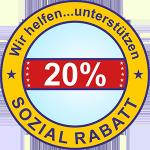 20% Rabatt für sozial Schwache